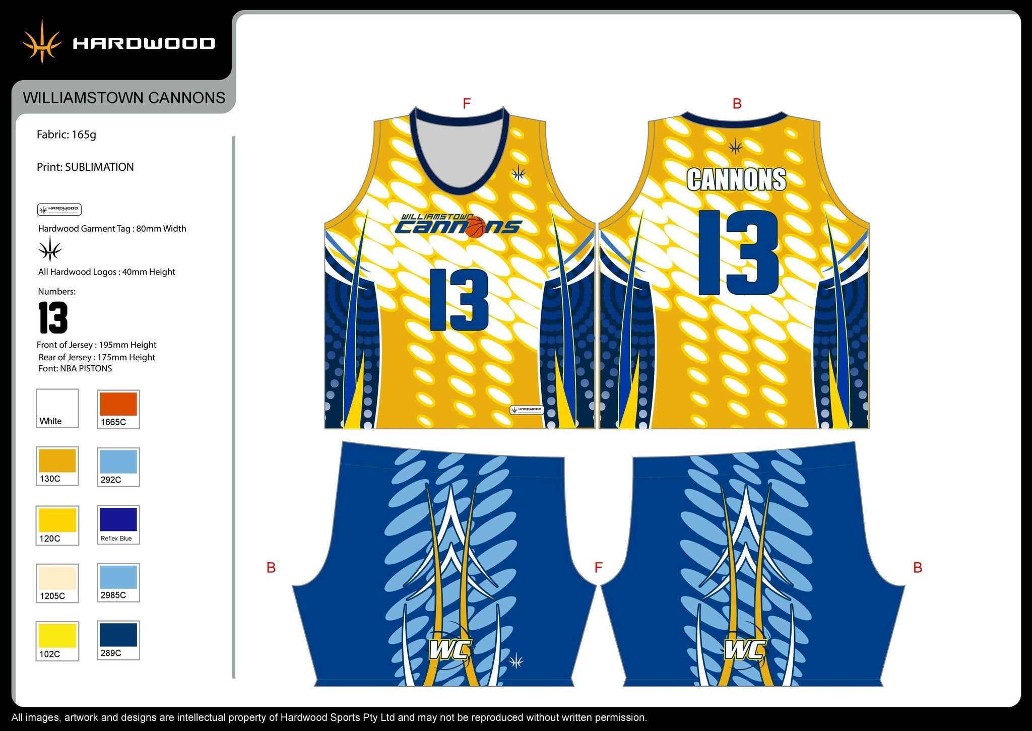 Williamstown Cannons Basketball Uniform Set