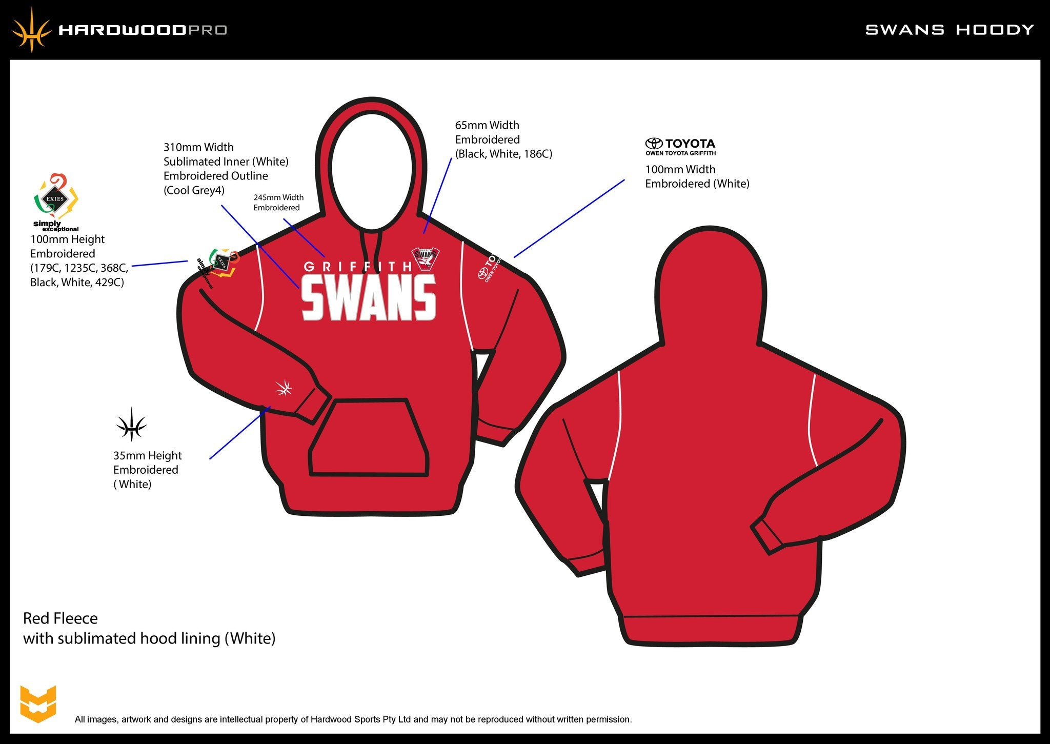 Griffith Swans Hoodie