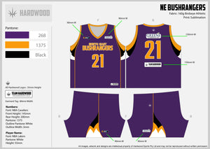 NE Bushrangers Basketball Uniform Set