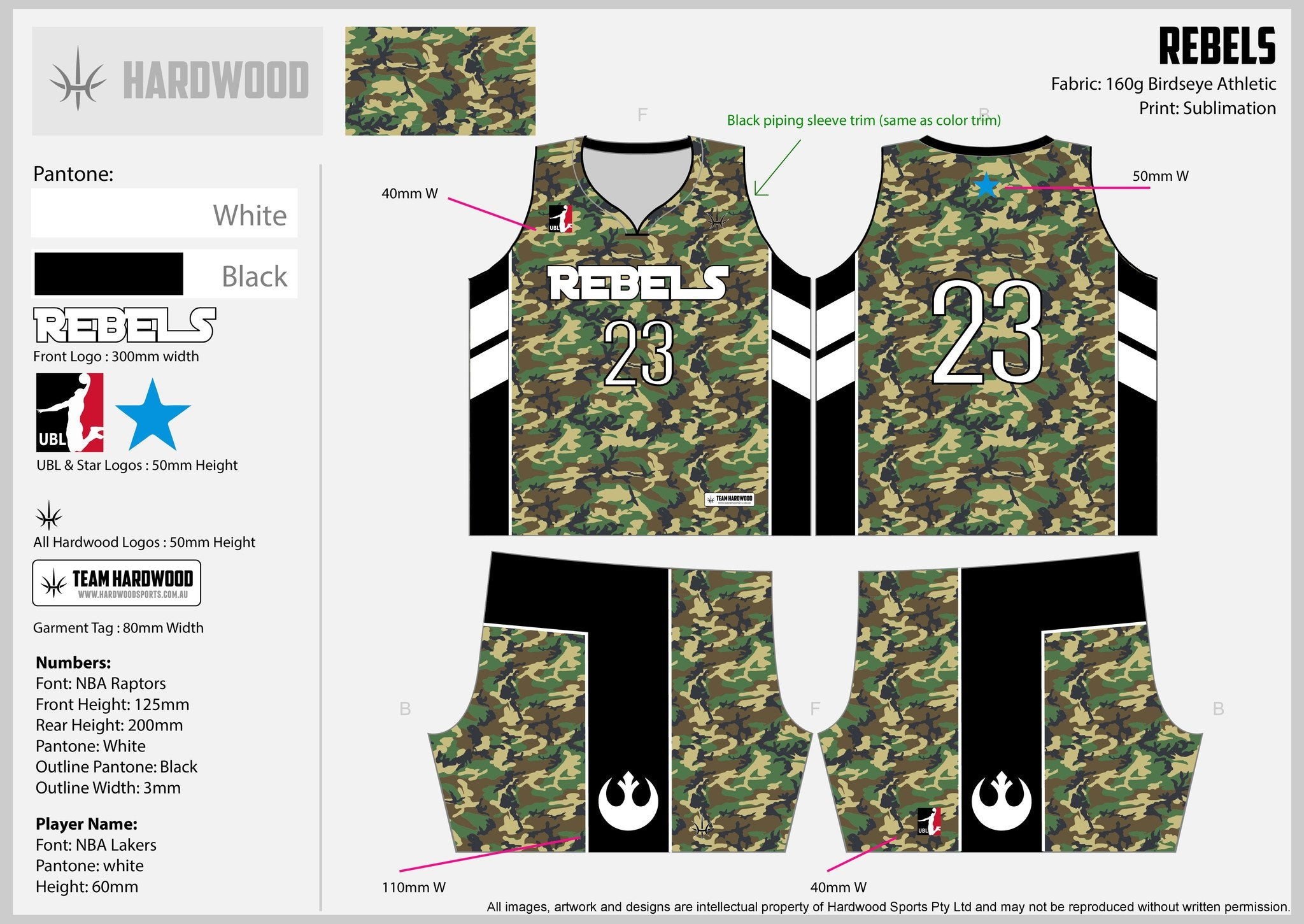 Rebels Basketball Uniform Set