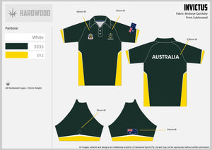 Invictus Games Green & Gold Polo Shirt