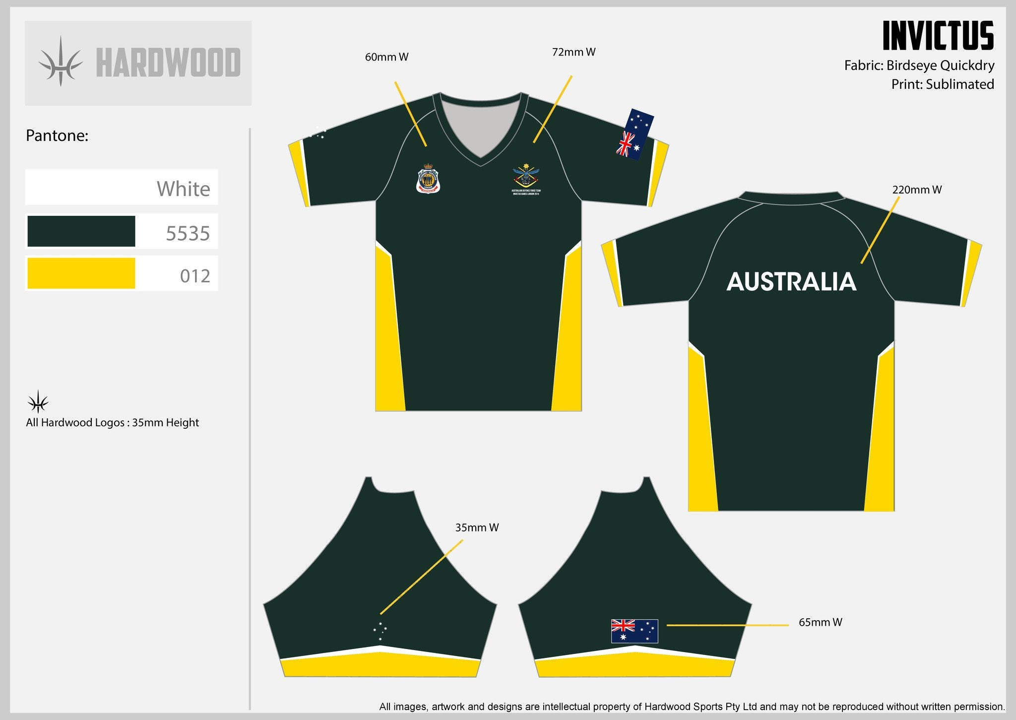 Invictus Games Green & Gold Warm Up Top