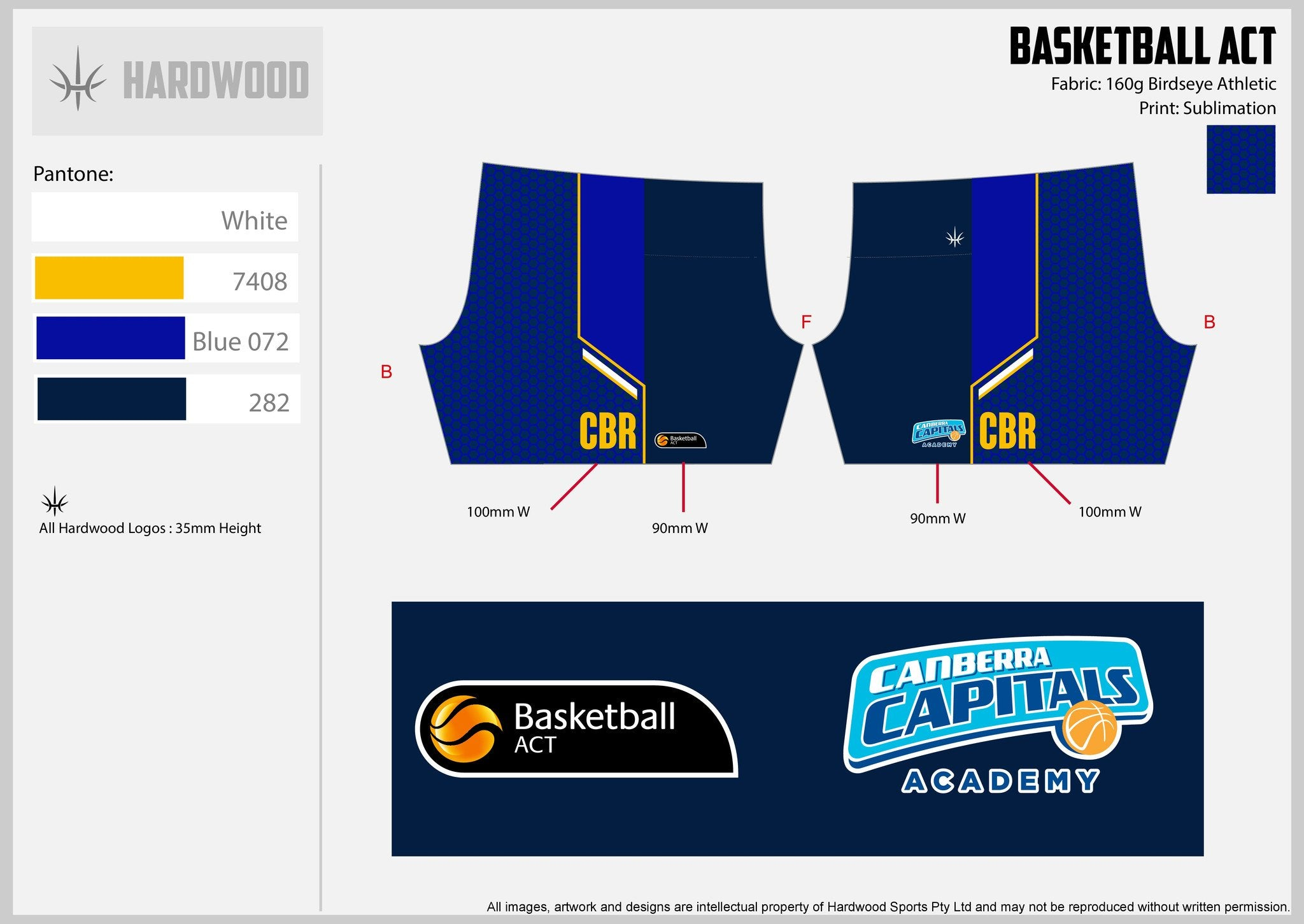 Canberra Capitals Academy Basketball Shorts