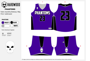 Phantoms Basketball Uniform Set