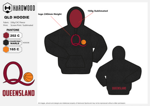 ADFBA QLD Basketball Hoodie ***Traditional***
