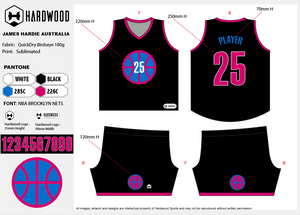 James Hardie Basketball Uniform Set