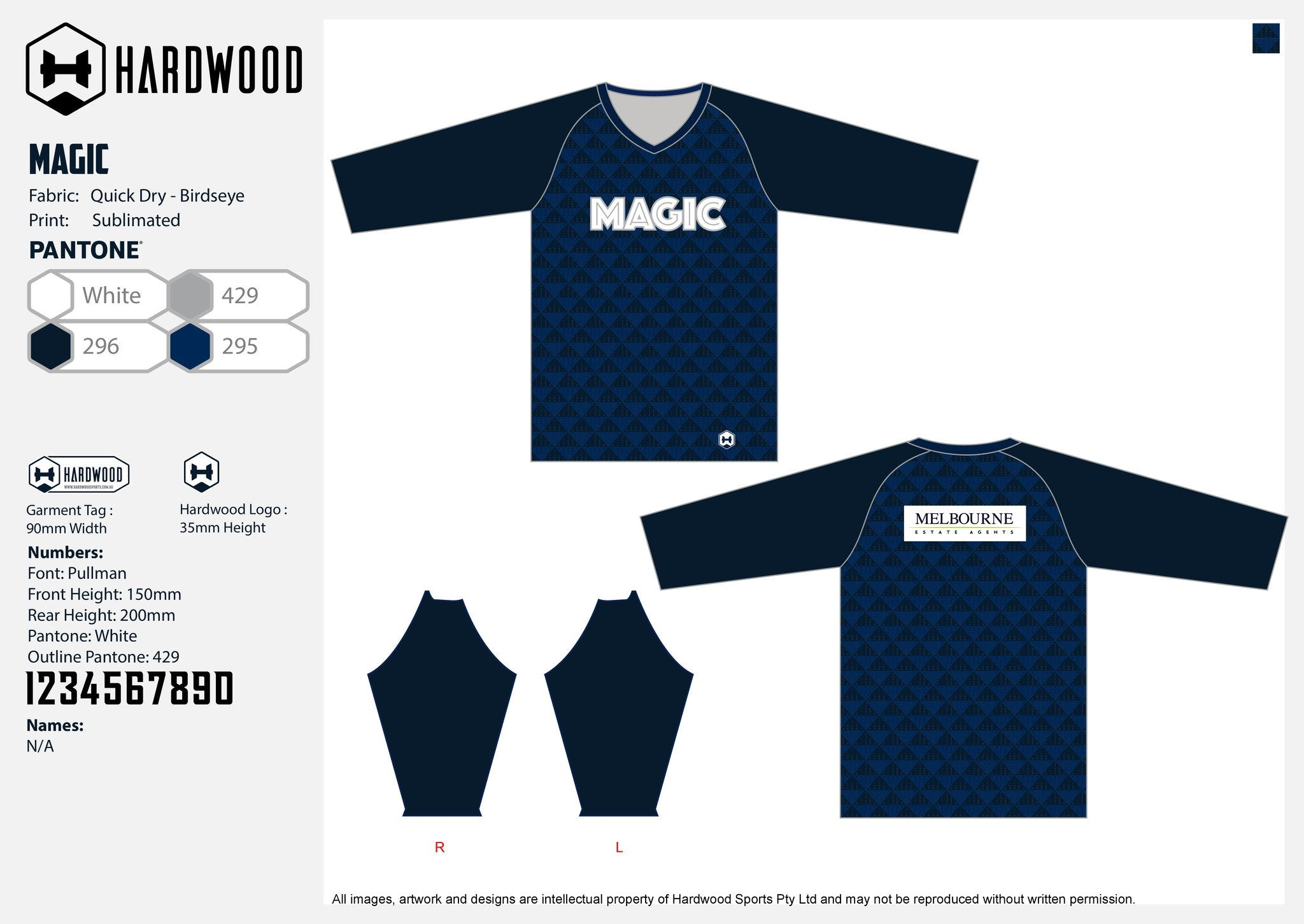Melbourne Magic Basketball Warm Up Top