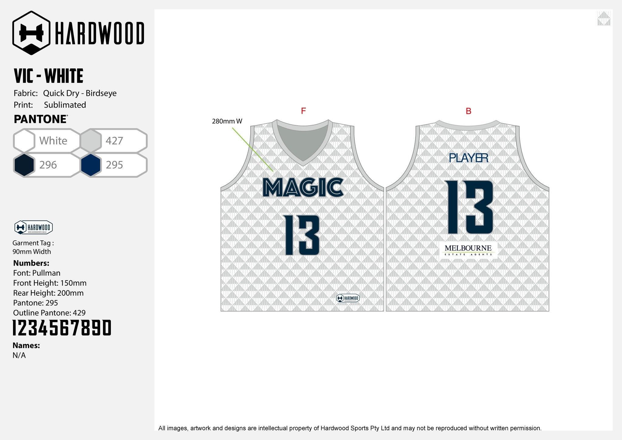 Melbourne Magic Basketball Uniform Set