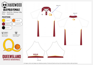 ADFBA QLD Basketball Polo Shirt Coaches & Managers