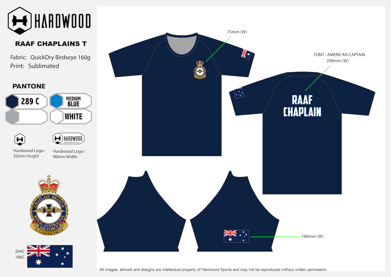 RAAF Air Force Chaplain Shirt (Birdseye Mesh)