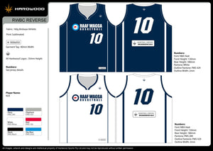 RAAF Wagga Air Force Baskeball Reversible Jersey
