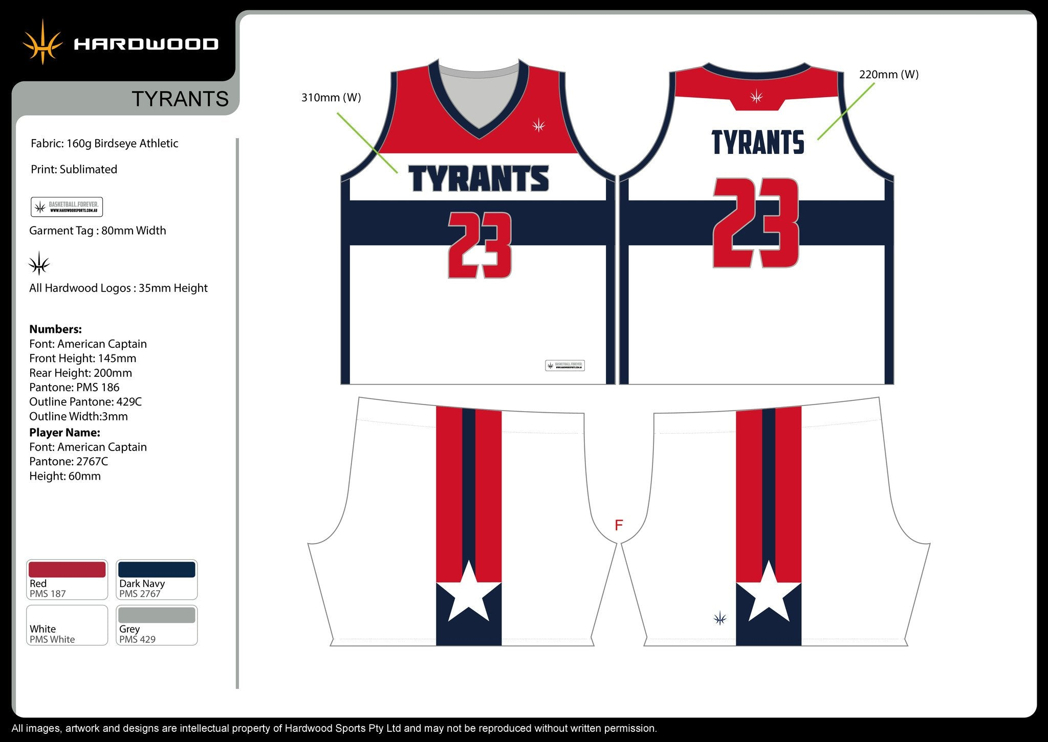 Tyrants Basketball Uniform Set