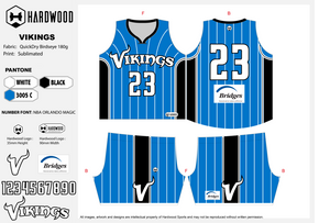 Vikings Basketball Jersey Only