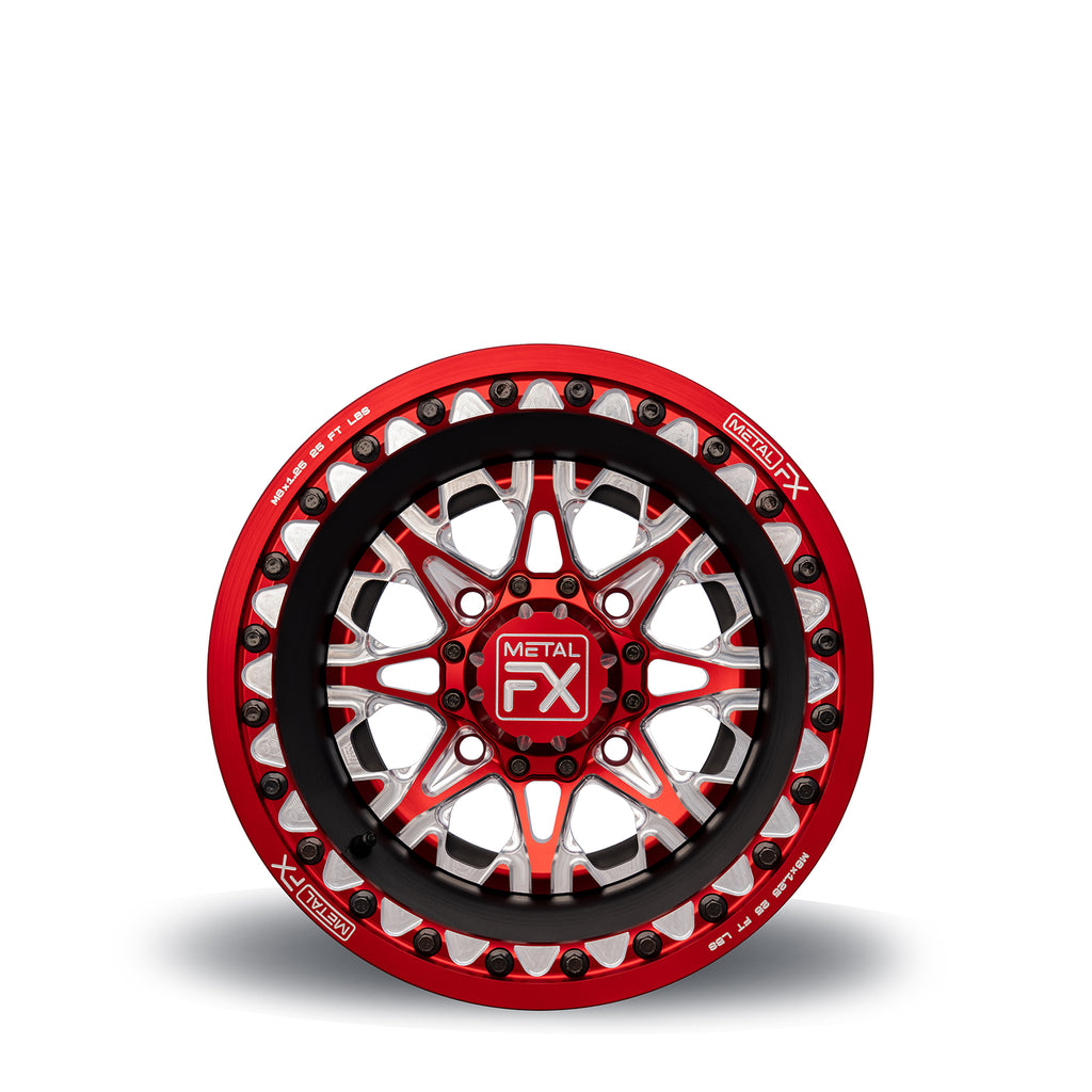 "15"" Assassin Red Anodized Beadlock Wheel"
