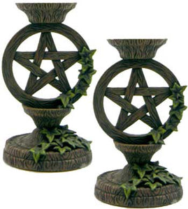 Pentagram Taper Holder (set of 2)