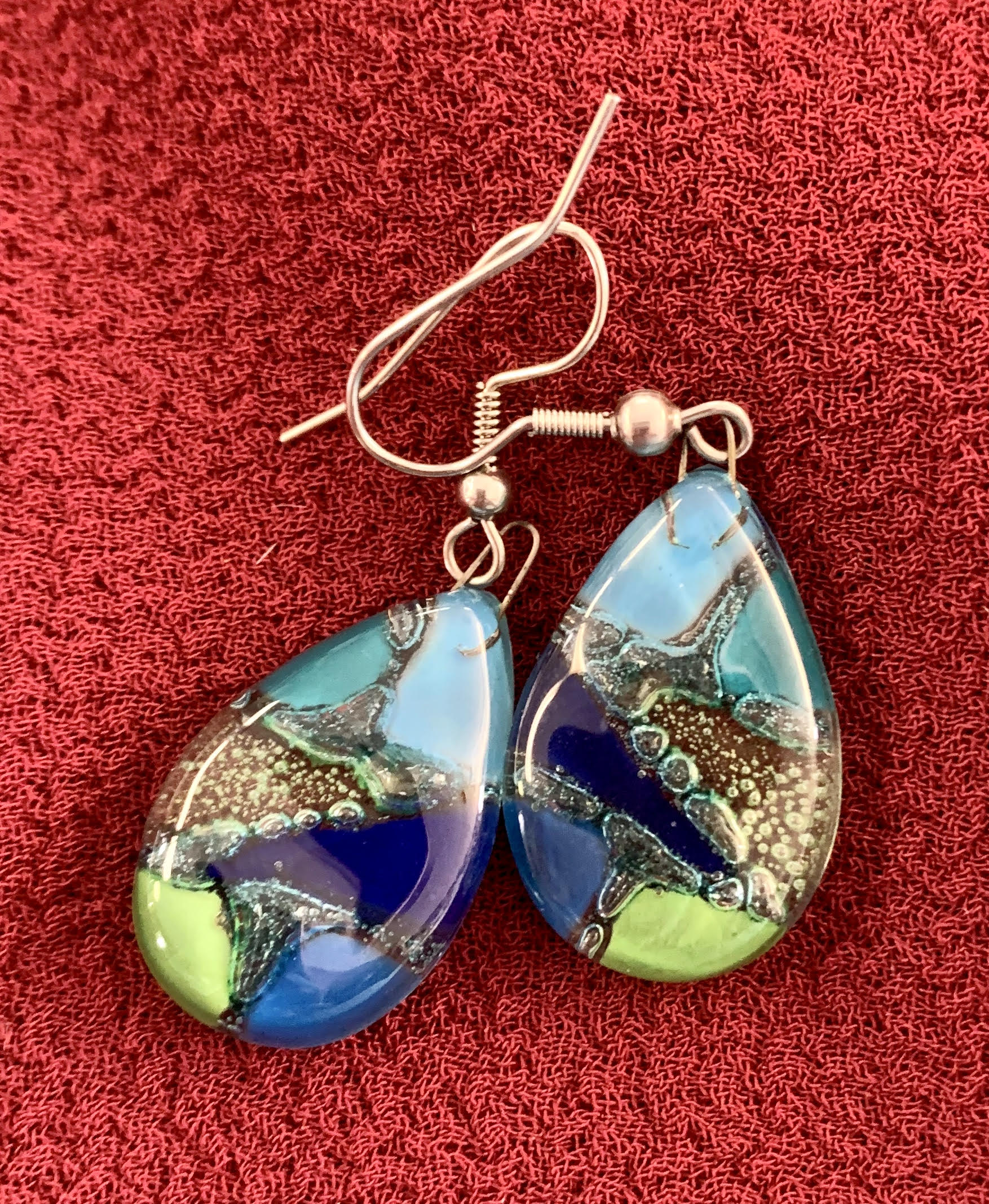 Hand Painted Peruvian Earrings Southwest style
