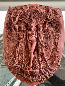 Triple Goddess - Maiden/Mother/Crone plaque
