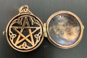 Bronze Celtic Swirl W/Hidden Pentacle Locket