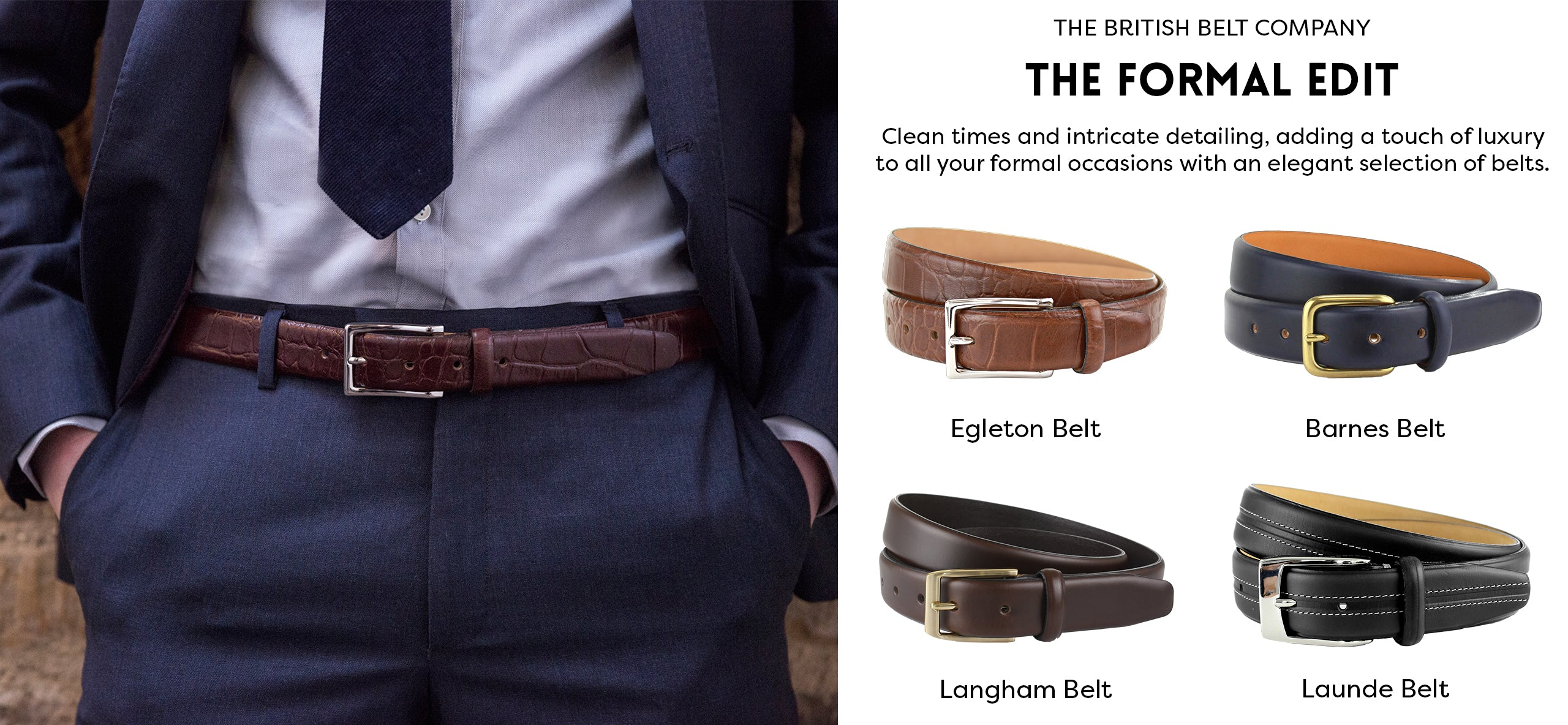 How to choose the perfect men's formal leather belt handmade in England