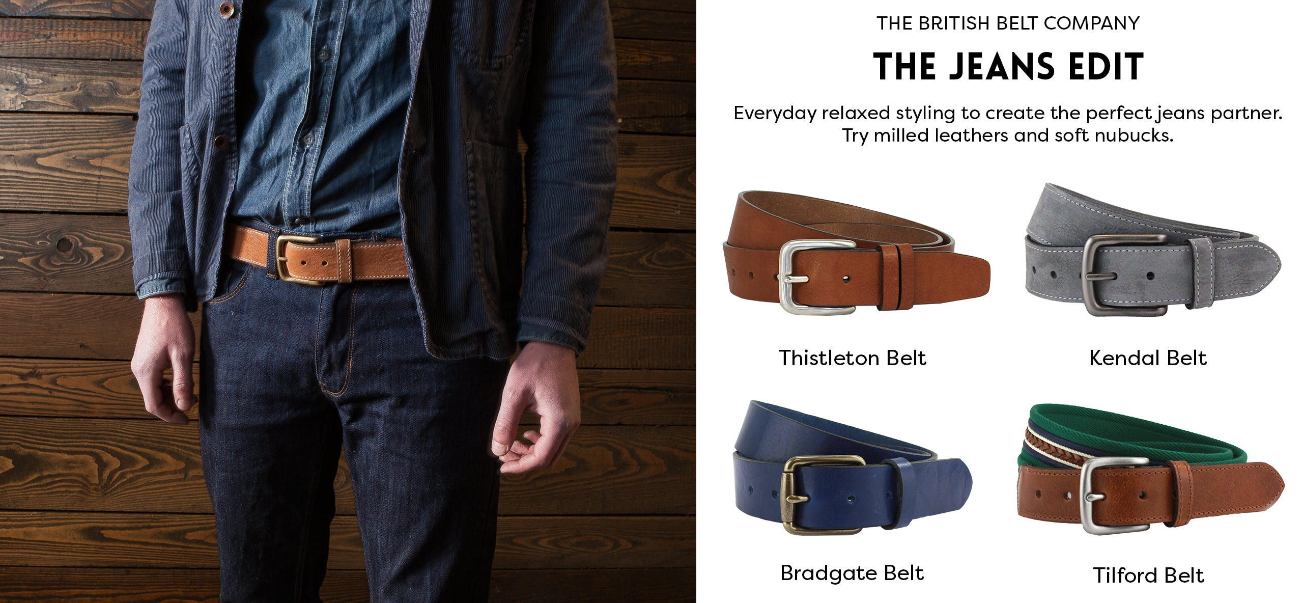 How to choose the perfect men's jeans leather belt handmade in England