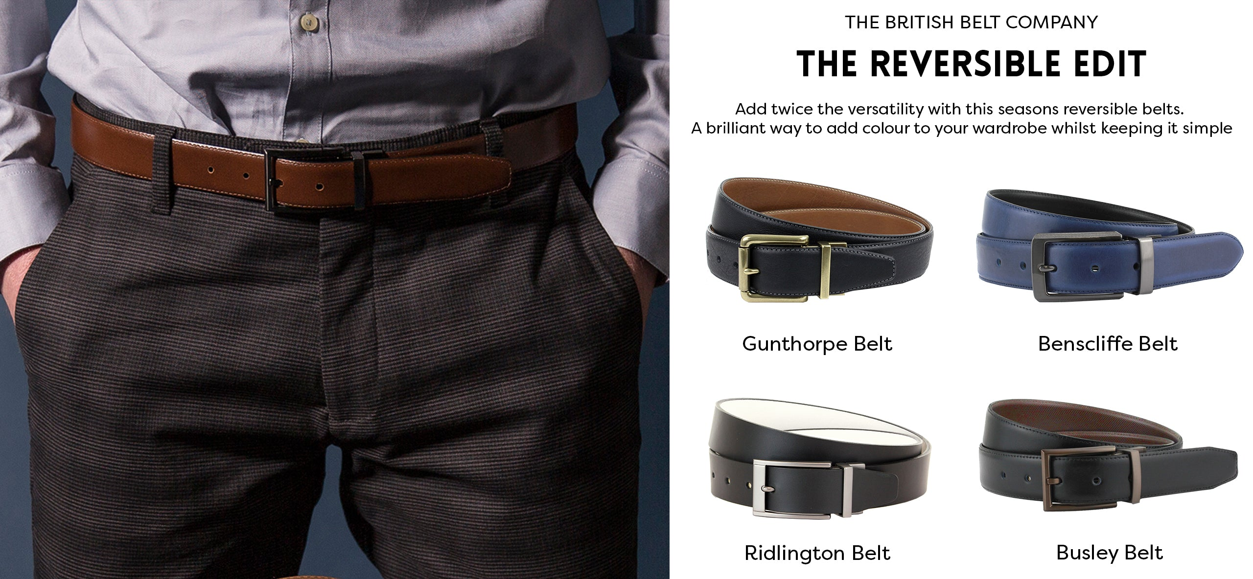 How to choose the perfect men's reversible leather belt handmade in England