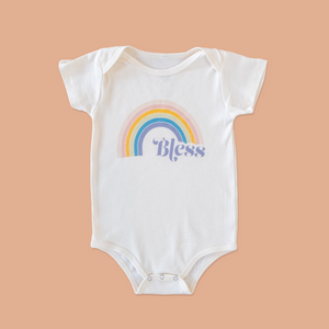 the product photo os the bless onesie