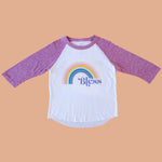 Bless Purple Raglan Tee