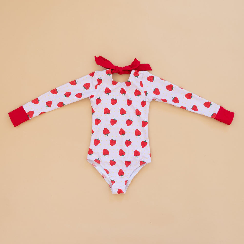 Strawberry Long Sleeve Swim