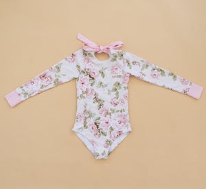 English Rose Long Sleeve Swim