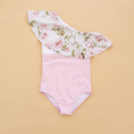 English Rose One Shoulder Swim Suit