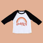 Golden Black Raglan Tee