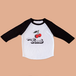 Product photo of the cherry bomb raglan tee
