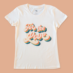 product photo of the women's for the love tee