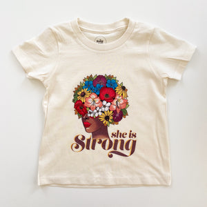 She is Strong Floral T-Shirt
