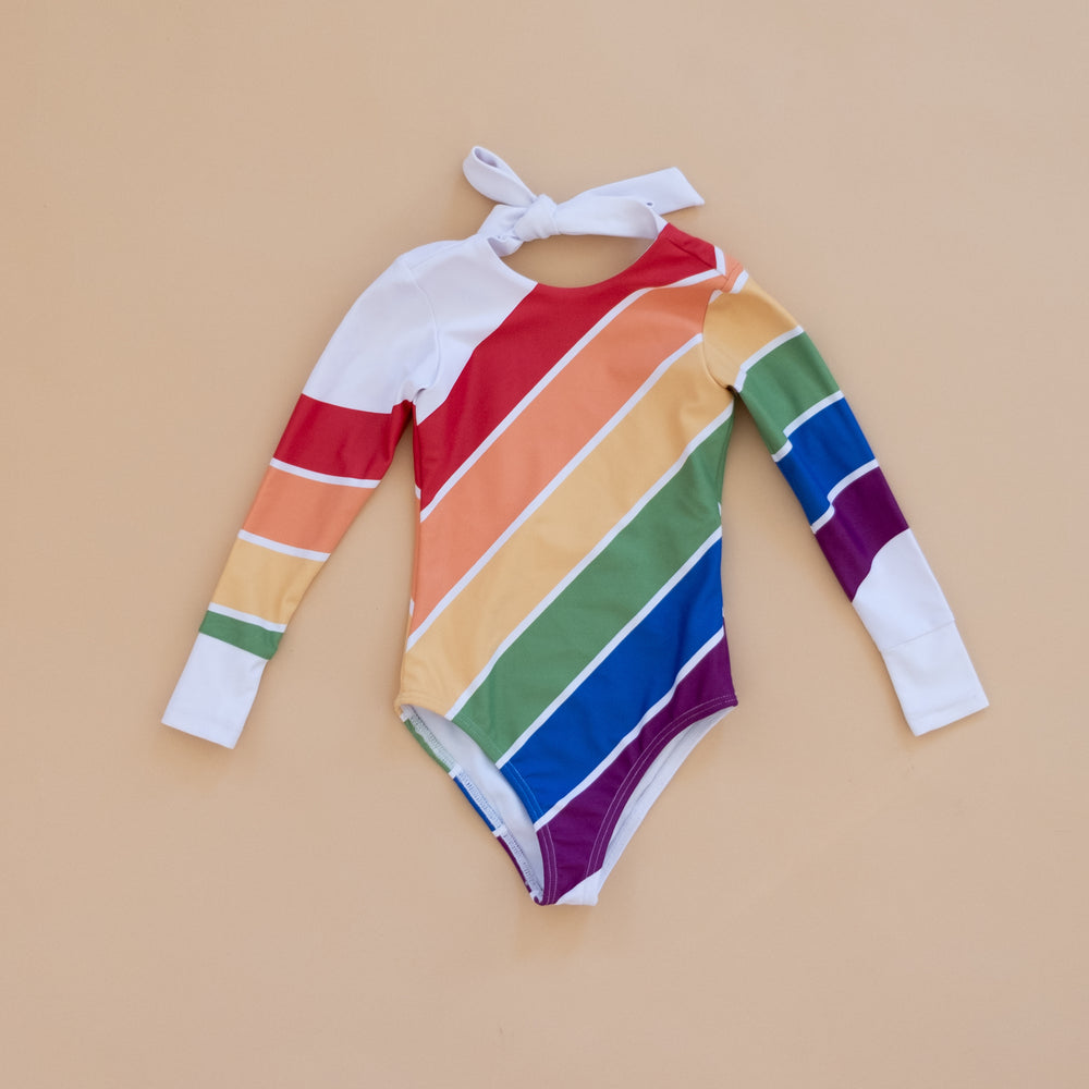 Primary Rainbow Long Sleeve Swim