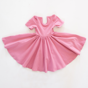 Puff Sleeve Dress in Honolua Pink
