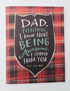 Fathers Day Card Everything I Know