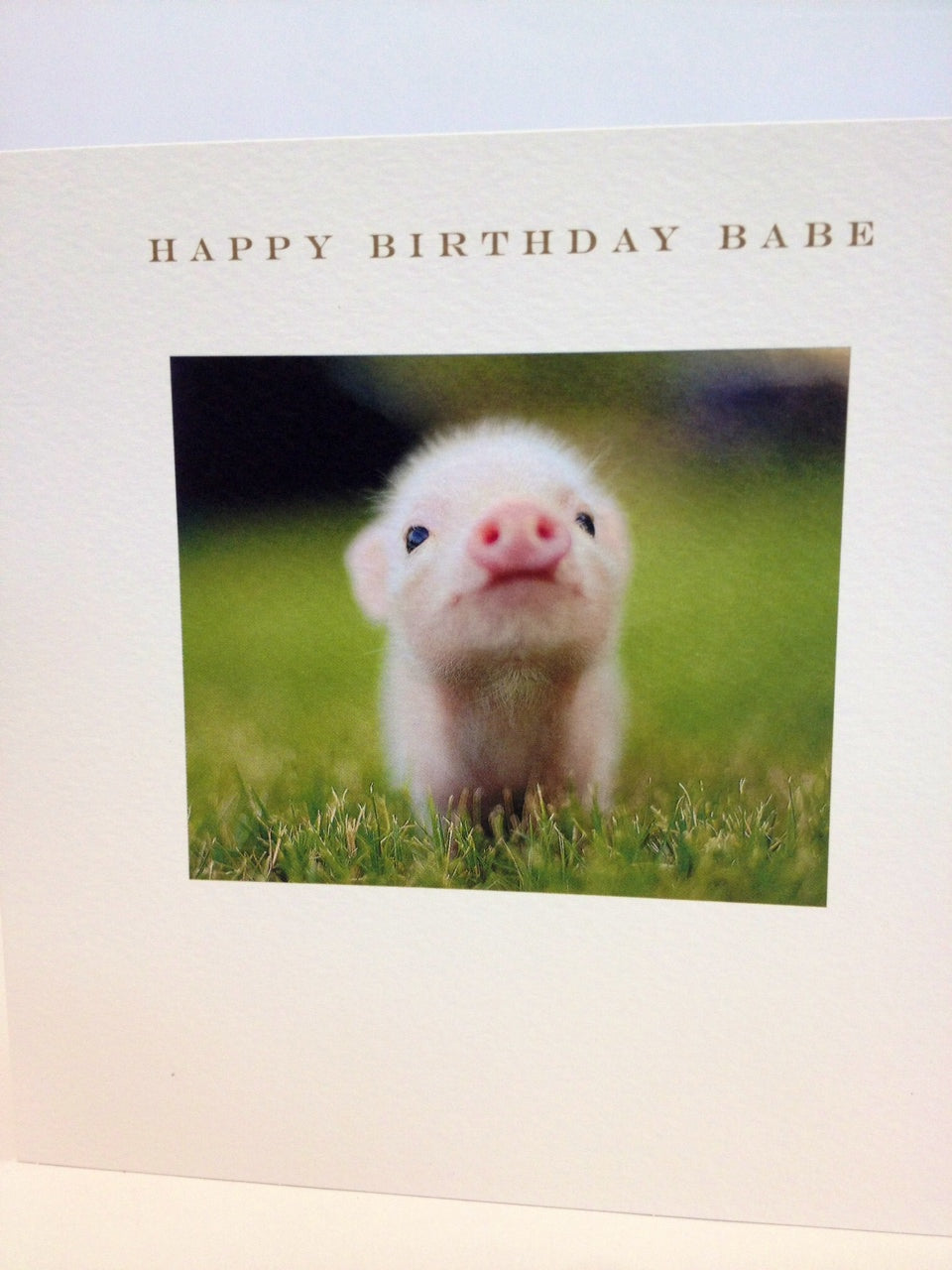 Happy Birthday Babe Message card