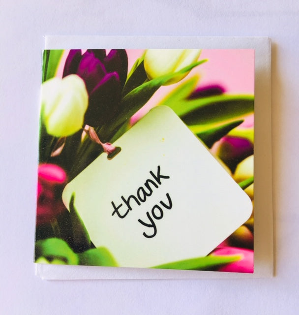 Thank you card small