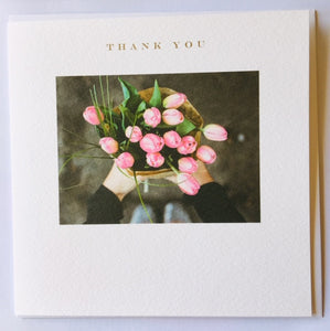 Thank you tulips message card
