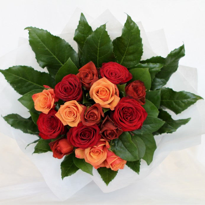 Red Shades Rose Bouquet