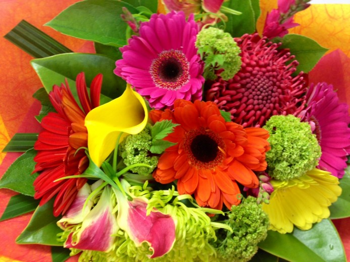 Bright Mix Posy