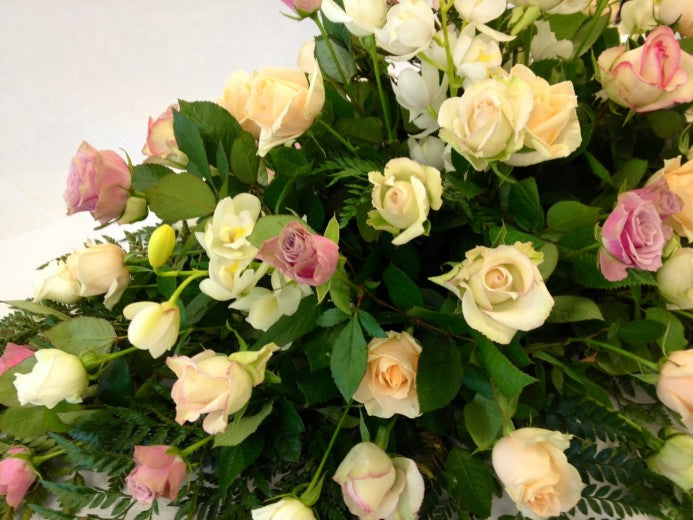 Casket Spray Roses & Orchids