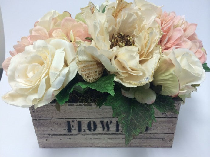Artificial flower Crate