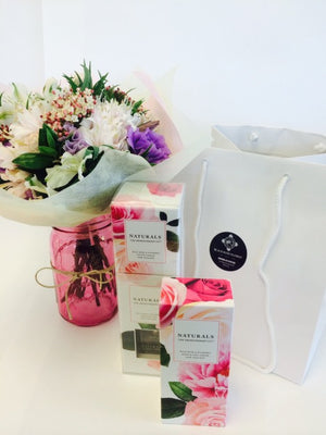 Posy & Pamper products in Gift Bag