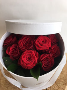 Rose Hat Box Arrangement