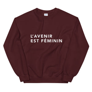 The Futura is Female/Nonbinary [Language Options] Crewneck Jumper