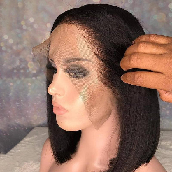 "T-Part Lace Wig Bob Wig 100% Virgin Human Hair 8"" to 14"""