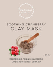 Load image into Gallery viewer, Natural Nordic Cranberry clay mask