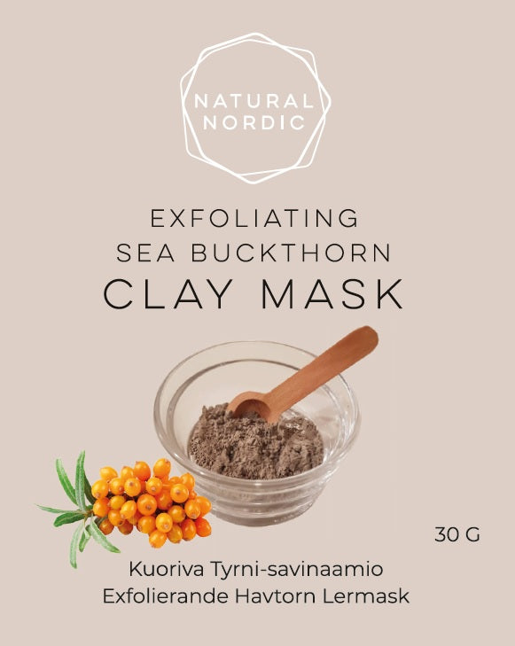 Natural Nordic Sea buckthorn clay mask